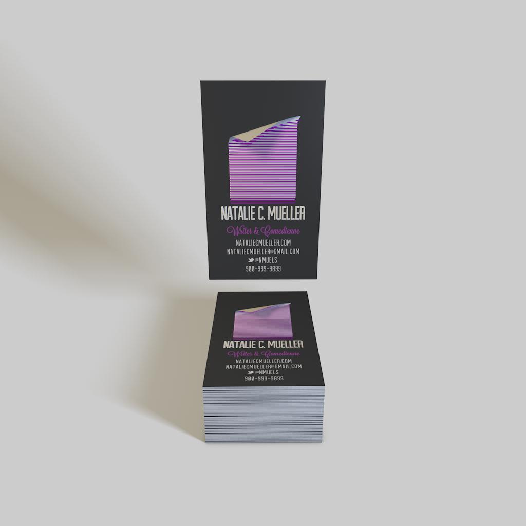 Fancy New Business Cards   Natalie C Mueller — Freelance Copywriter ...