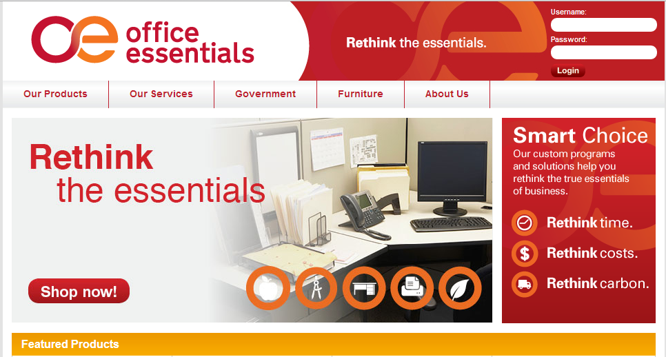 Office Essentials Rebrand