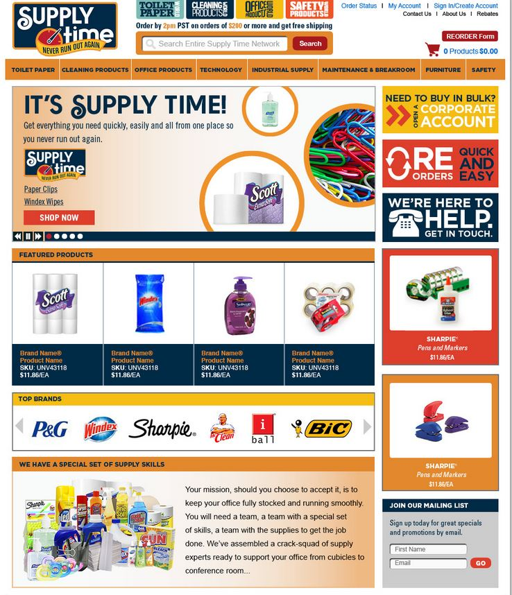 Supply Time & Toilet Paper World — Websites