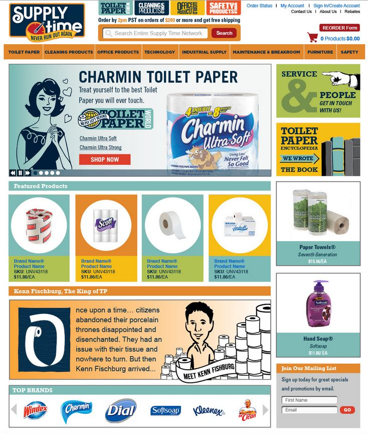 Supply Time Toilet Paper World Websites