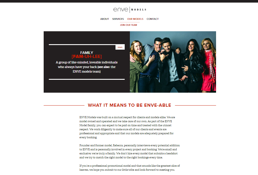 ENVE Models – Branding & Website